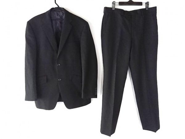 KENT&CURWEN(ケント&カーウェン) シングルスーツ メンズ 黒 ネーム刺繍