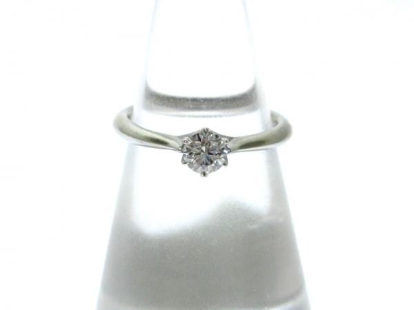 ラザールダイヤモンド リング美品  Pt950×ダイヤモンド 1Pダイヤ/0.21カラット