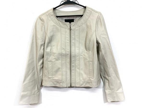 ICB(アイシービー) ジャケット サイズ9 M レディース ベージュ レザー/ノーカラー