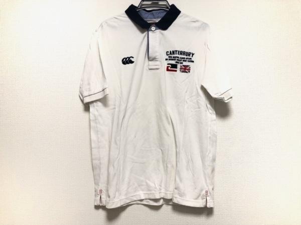 カンタベリーオブニュージーランド 半袖ポロシャツ サイズL メンズ 刺繍
