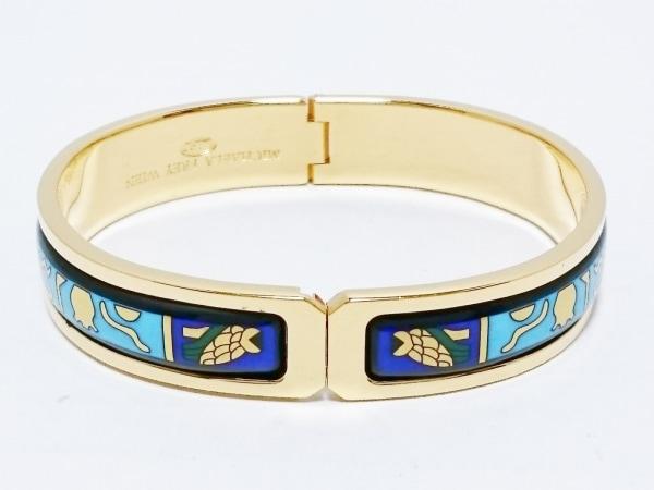 MICHAELA FREY WIEN(ミカエラフレイ) バングル美品  金属素材 ゴールド×黒×マルチ