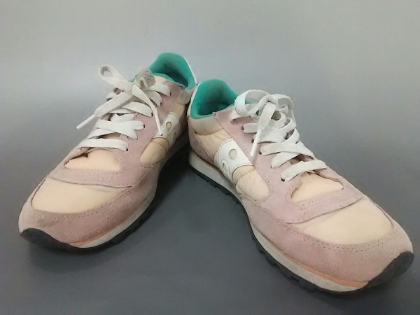 SAUCONY(サッカニー) スニーカー レディース ピンク×マルチ 化学繊維×スエード
