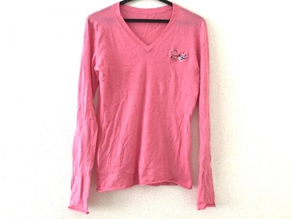 ルシアンペラフィネ 長袖セーター サイズS レディース美品  ピンク
