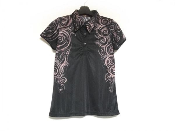 mash mania(マッシュマニア) 半袖ポロシャツ レディース美品  黒×ピンク