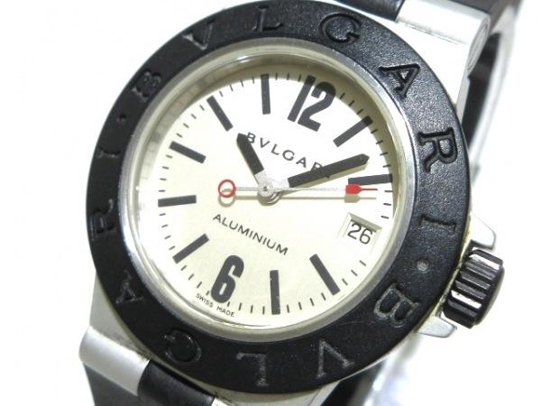 brand new 95c61 82f13 BVLGARI(ブルガリ) 腕時計 アルミニウム AL29A レディース アイボリー