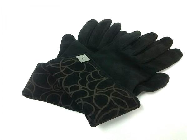 CHANEL(シャネル) 手袋 レディース美品  黒×ブラウン ヌバック×スエード