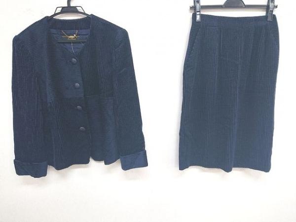 Leilian(レリアン) スカートスーツ サイズ9 M レディース美品  ダークネイビー