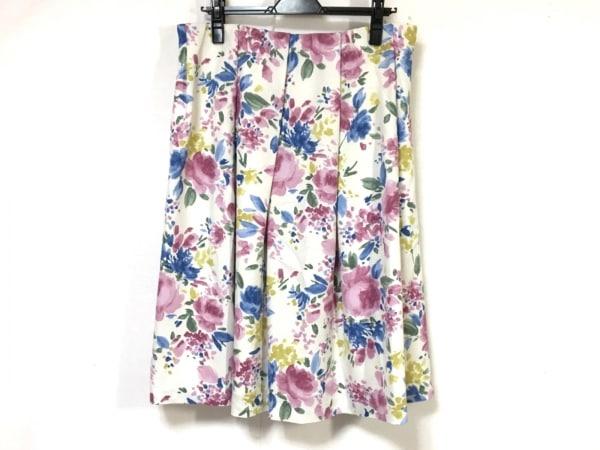 Rose Tiara(ローズティアラ) スカート レディース美品  ピンク×ブルー×マルチ 花柄