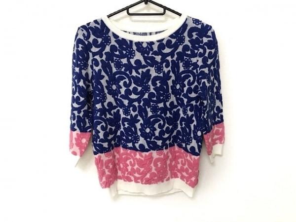 グレースコンチネンタル 長袖セーター サイズ36 S レディース美品  ピンク×ブルー