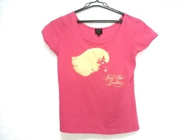 JeanPaulGAULTIER(ゴルチエ) 半袖Tシャツ レディース ピンク×オレンジ ラメ
