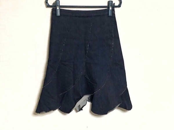 ゴルチエ スカート サイズ40 M レディース新品同様  ダークネイビー デニム