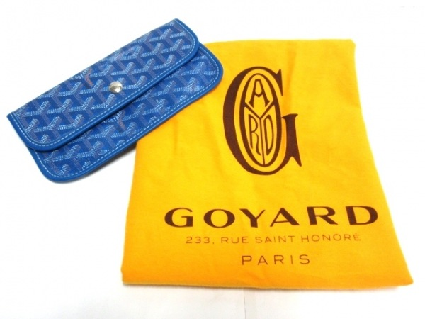 GOYARD(ゴヤール) トートバッグ サンルイPM ブルー×ブラウン×白