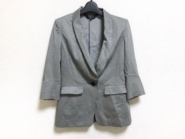 クードシャンス ジャケット サイズ38 M レディース グレー 肩パッド