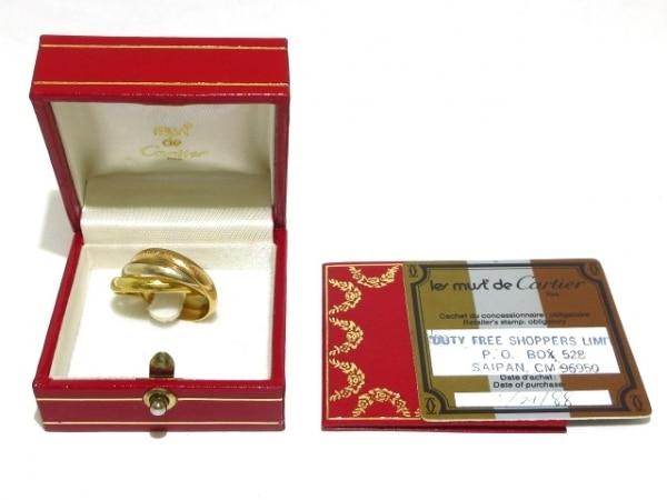 Cartier(カルティエ) 3連リング 55美品  トリニティ K18スリーカラー