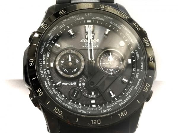 EDIFICE(エディフィス) 腕時計 EQW-T1010DC メンズ クロノグラフ 黒