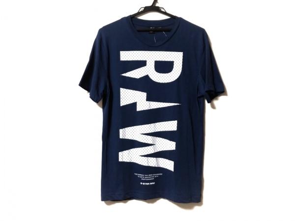 G-STAR RAW(ジースターロゥ) 半袖Tシャツ サイズS メンズ ブルー×白