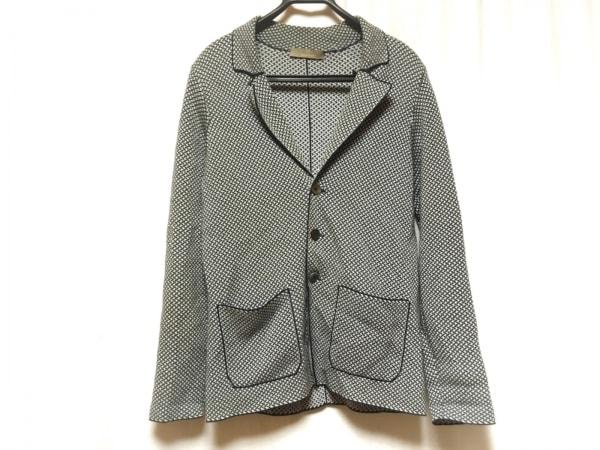 Cruciani(クルチアーニ) ジャケット サイズ46 XL メンズ ダークネイビー×白 ニット