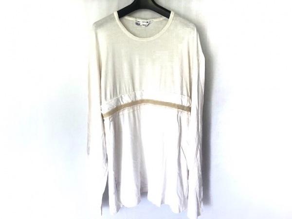 コムデギャルソンシャツ チュニック サイズL レディース 白×ライトブラウン