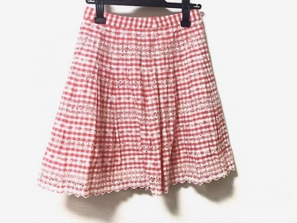 Jane Marple(ジェーンマープル) スカート サイズM レディース美品  レッド×白
