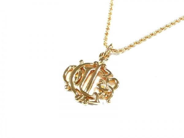 detailed look 1b8a6 a7502 ChristianDior(クリスチャンディオール) ネックレス美品 金属素材 ゴールド