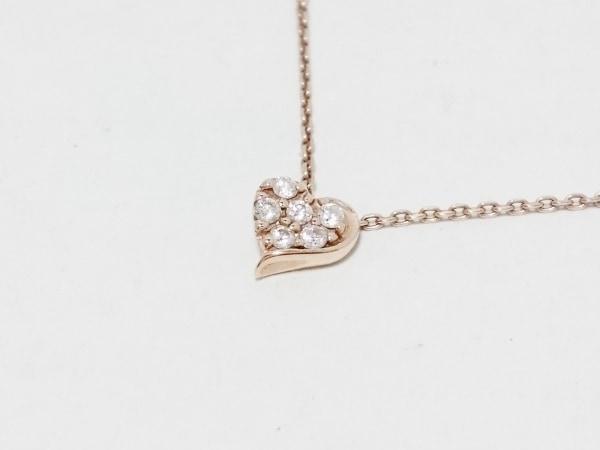 STAR JEWELRY(スタージュエリー) ネックレス美品  K10PG×ダイヤモンド