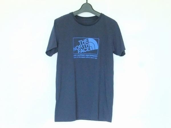 ノースフェイス 半袖Tシャツ サイズL レディース ダークネイビー×ブルー