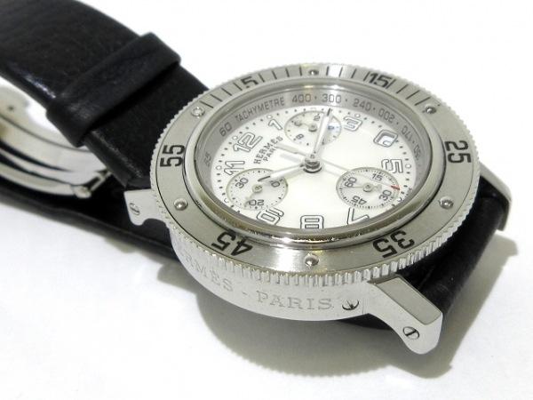 エルメス 腕時計 クリッパーダイバークロノ CL2.310 レディース シェルホワイト