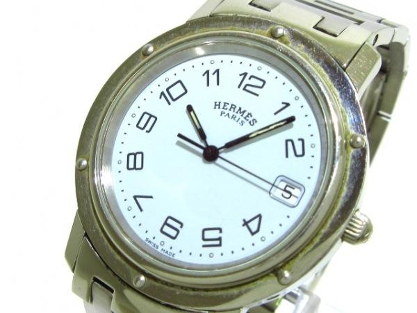 HERMES(エルメス) 腕時計 クリッパー CL6.710 メンズ 白