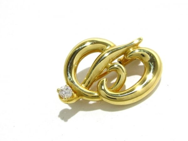 ChristianDior(クリスチャンディオール) ブローチ美品  K18YG×ダイヤモンド