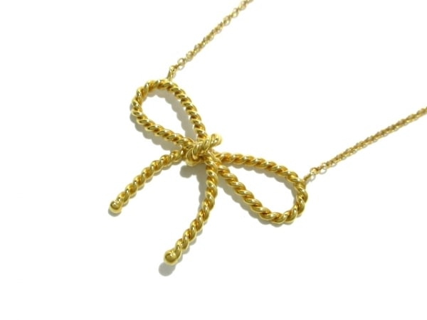 TIFFANY&Co.(ティファニー) ネックレス美品  ツイストリボン K18YG 1