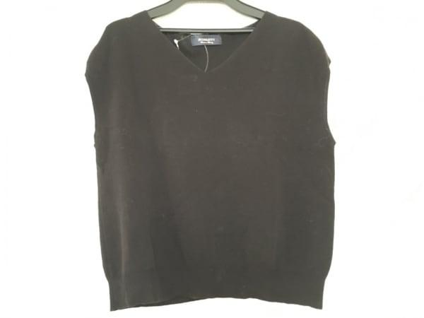JUSGLITTY(ジャスグリッティー) ノースリーブセーター サイズ2 M レディース 黒