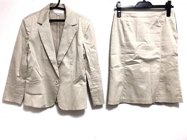 M-PREMIER(エムプルミエ) スカートスーツ サイズ38 M レディース ベージュ