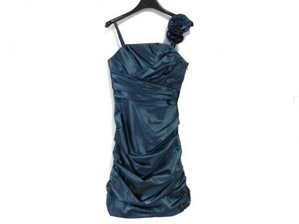 La Defence(ラデファンス) ドレス サイズ9 M レディース美品  ブルー フラワー