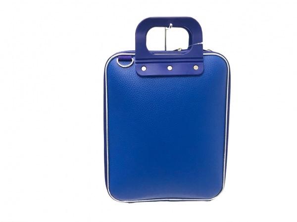 ボンバータ ハンドバッグ美品  パープル×シルバー PCバッグ レザー×プラスチック