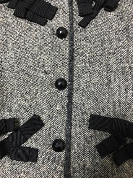 モスキーノ チープ&シック ジャケット レディース 黒×アイボリー リボン