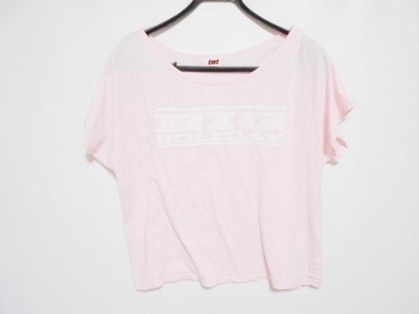 TMT(ティーエムティー) 半袖Tシャツ サイズF レディース ピンク×アイボリー