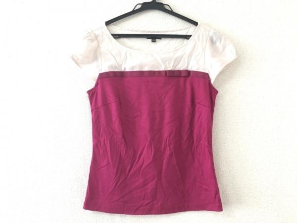 TOCCA(トッカ) 半袖カットソー サイズXS レディース美品  - - ピンク×アイボリー