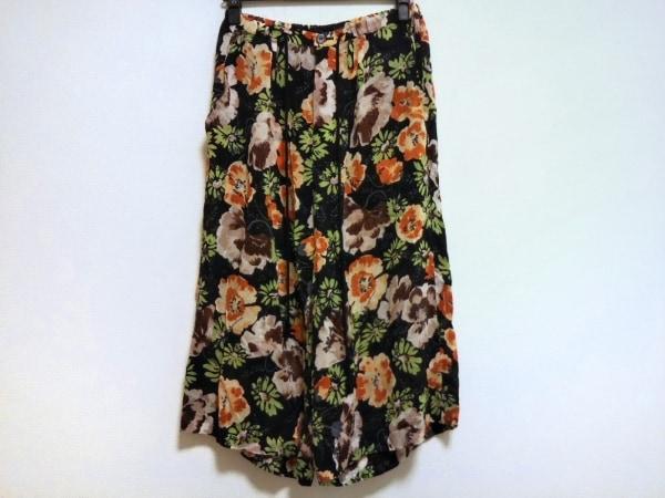 Y's(ワイズ) パンツ サイズ1 S レディース 黒×マルチ 花柄