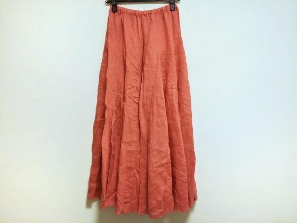 CP SHADES(シーピーシェイズ) ロングスカート サイズXS レディース美品  ピンク 麻