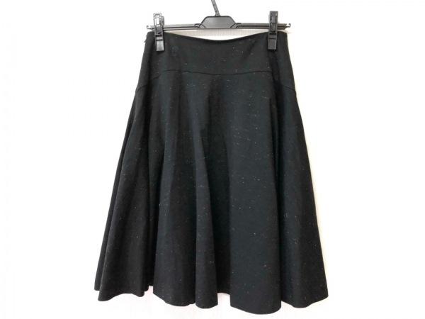 ヒロコビス スカート サイズ11 M レディース美品  黒×ライトグレー HIROKO KOSHINO