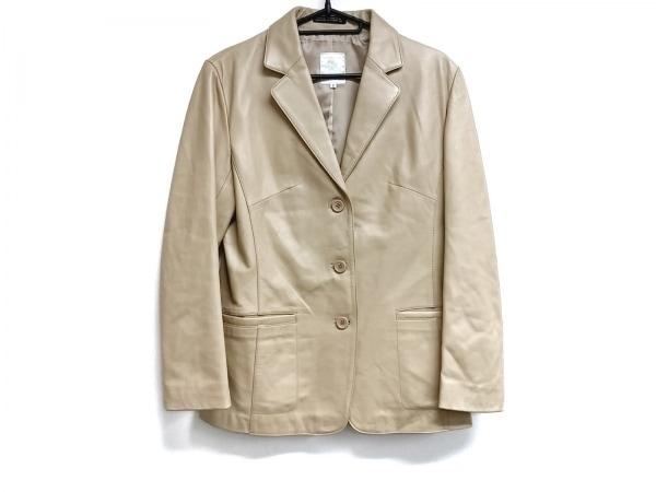 INED(イネド) ジャケット サイズ2 M レディース ライトブラウン レザー