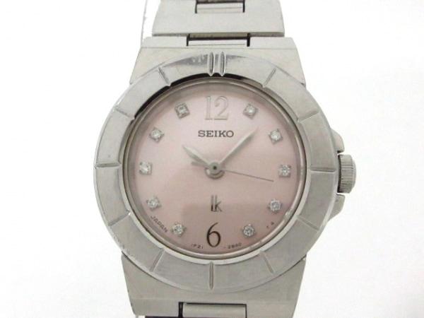 SEIKO(セイコー) 腕時計 ルキア 1F21-0L90 レディース 10Pダイヤインデックス ピンク