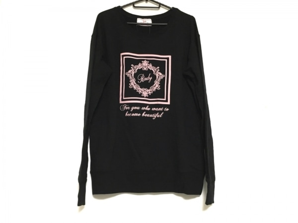 Rady(レディ) トレーナー サイズF レディース美品  黒×ピンク