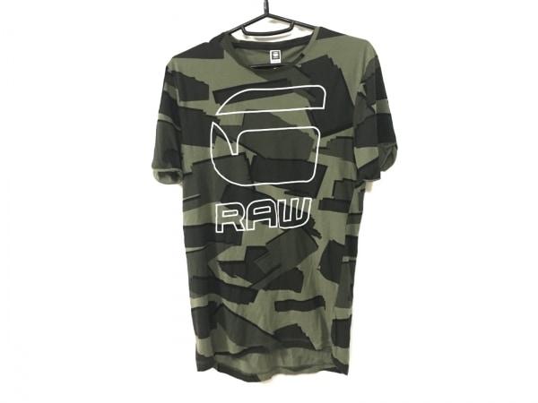 ジースターロゥ 半袖Tシャツ サイズXS メンズ カーキ×ダークグリーン×マルチ 迷彩柄