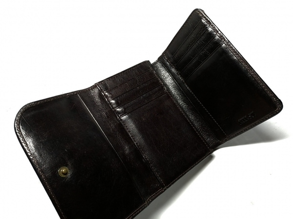 ANNA SUI(アナスイ) 3つ折り財布 ダークブラウン がま口 3