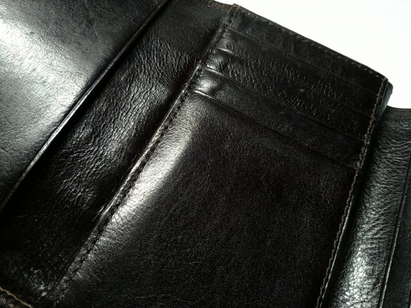 ANNA SUI(アナスイ) 3つ折り財布 ダークブラウン がま口 6