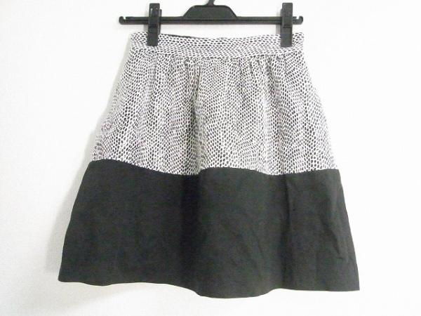 Laula(ラウラ) スカート サイズ1 S レディース美品  白×黒 異素材切替