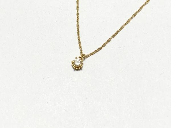 agete(アガット) ネックレス美品  K18YG×ダイヤモンド ダイヤ0.1Ct