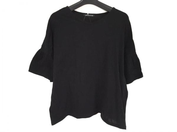 mizuiro  ind(ミズイロインド) 半袖Tシャツ レディース美品  黒 ワイド丈