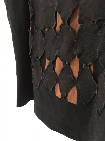 TELA(テラ) 半袖Tシャツ サイズS レディース美品  黒×ブラウン ストライプ